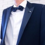 Navy Tuxedo with TRANS CONTINENTS